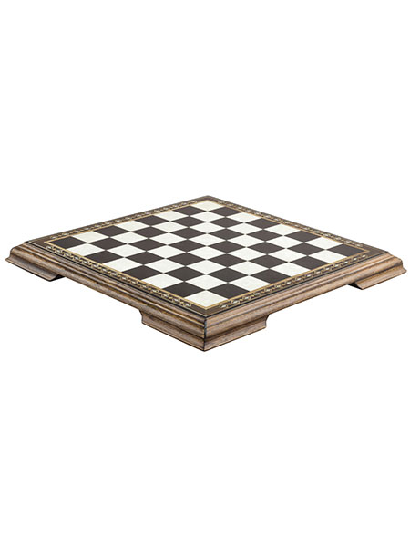 57cm Chessboard with Marquetry and Legs