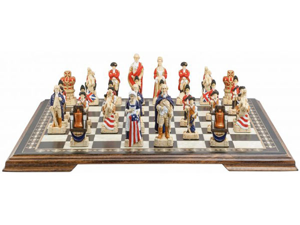American Revolutionary War Chess Pieces