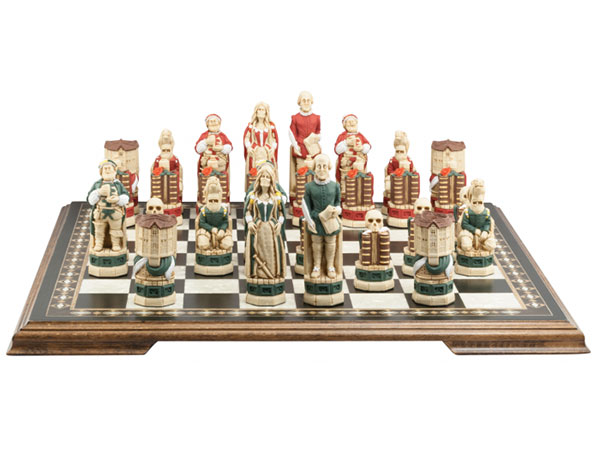 Shakespeare and the Globe Chess Set