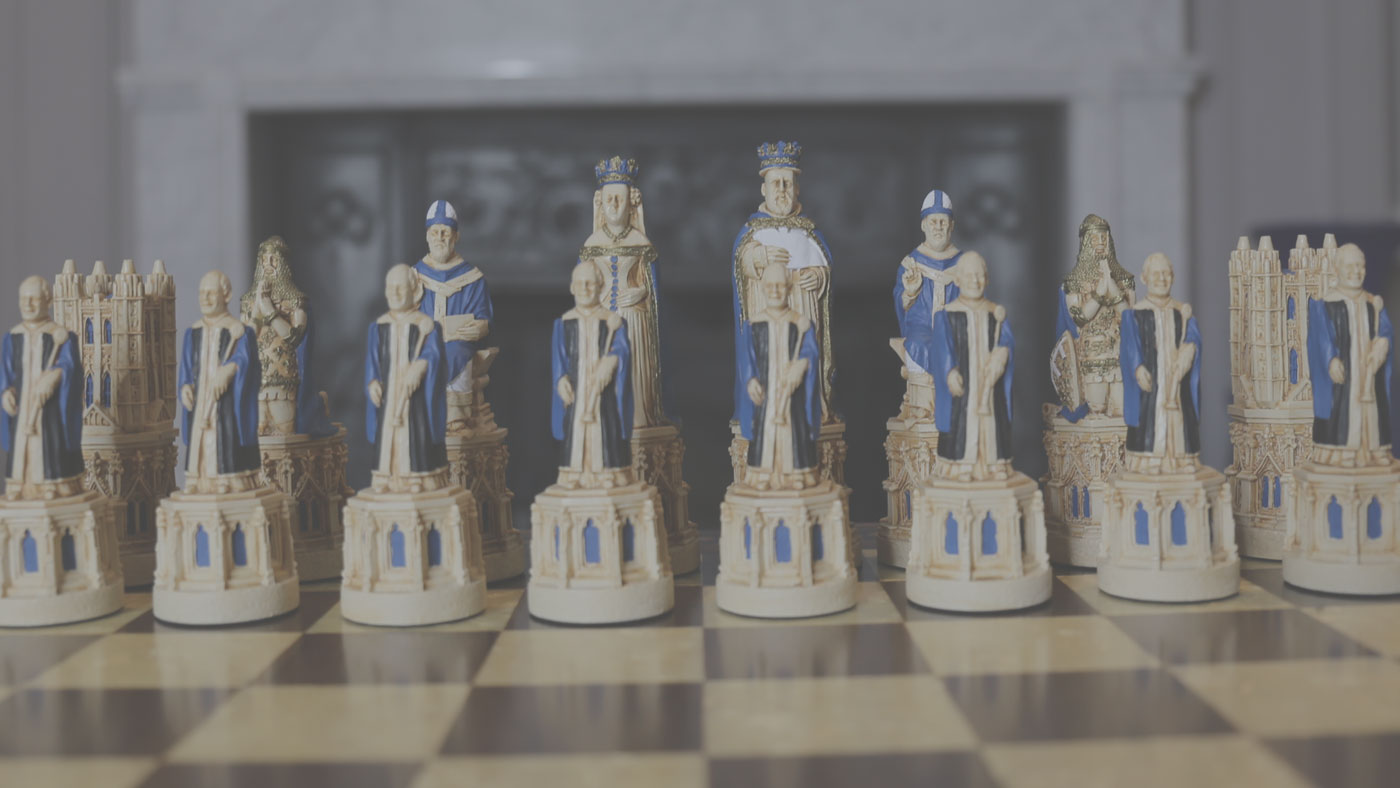 Medieval Cathedral Chess Pieces