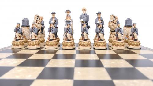 Studio Anne Carlton American Civil War British Hand Made Chess Set Grey Team