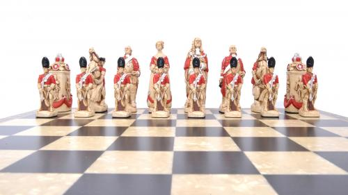 Studio Anne Carlton Battle of Culloden British Hand Made Chess Set Brtish Team