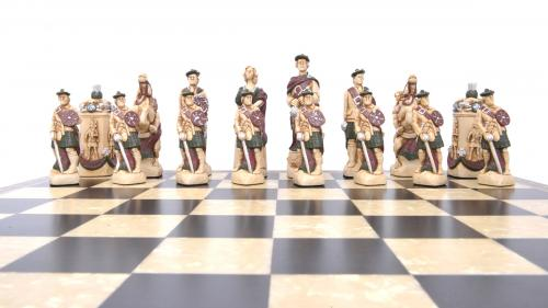 Studio Anne Carlton Battle of Culloden British Hand Made Chess Set Jacobites