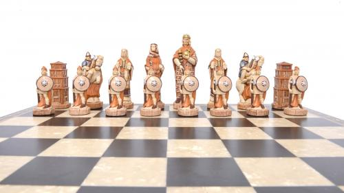 Studio Anne Carlton Battle of Hastings British Hand Made Chess Set British team