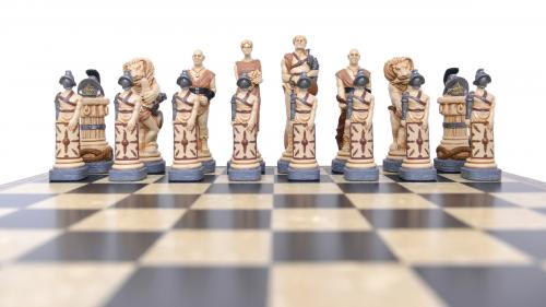 Studio Anne Carlton Spartacus British Hand Made Chess Set Spartacus Team